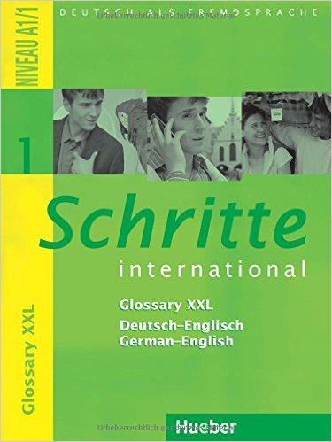 Schritte international 1: Glossary XXL De-Eng Eng-De (หนังสือคำศัพท์ประกอบแบบเรียน Schritte Inter 1)