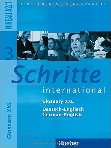 Schritte international 3: DaF / Glossar XXL De-Eng Ge-Eng (หนังสือคำศัพท์ประกอบแบบเรียน Schritte Inter 3)