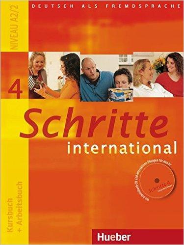 Schritte international 4: DaF/ Kursbuch + Arbeitsbuch mit CD zum Arbeitsbuch (แบบเรียน+แบบฝึกหัด)