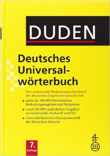 Duden - Deutsches Universalwörterbuch (พจนานุกรมเยอรมัน - เยอรมัน ขนาดใหญ่)