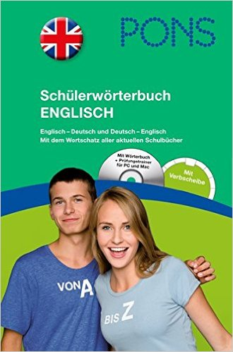 PONS Schülerwörterbuch Englisch (พจนานุกรม ฉบับนักเรียน อังกฤษ - เยอรมัน/เยอรมัน - อังกฤษ)