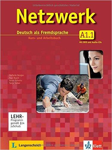 ชุด Netzwerk A1 Teil 1-2: DaFe. KB und AB mit DVD und 2 Audio-CDs