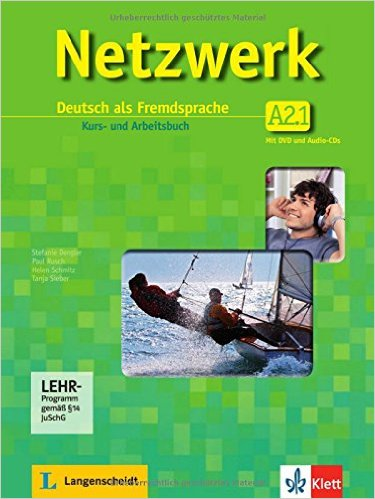 ชุด Netzwerk A2 Teil1-2:  Kurs- und Arbeitsbuch mit DVD und 2 Audio-CD